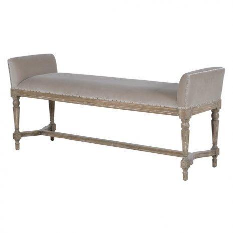 fawn velvet bench