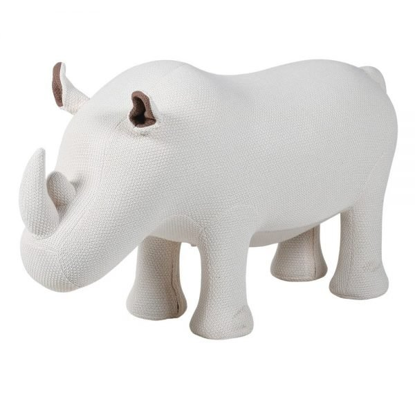 white rhino stool